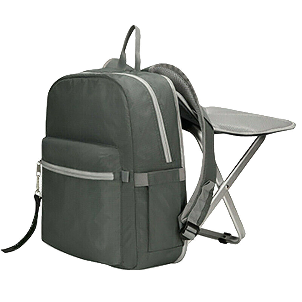 Camping voyage chaise pliante sac à dos portable tabouret extérieur sac étanche portable et détachable