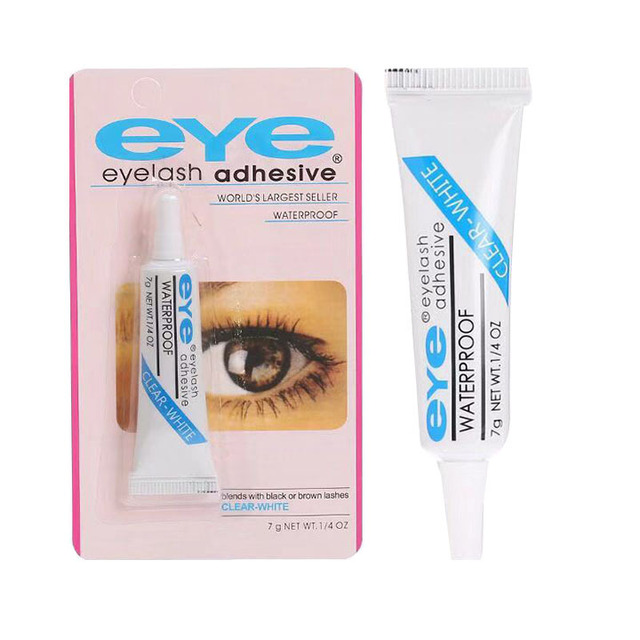 2pcs False Eyelashes Makeup Adhesive False Eyelash Glue Clear-white Dark-black Waterproof Eye Lash Cosmetic Tools 5