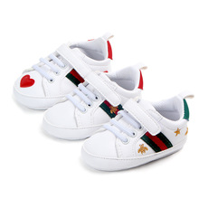 New spring and autumn white shoes soft bottom non-slip baby