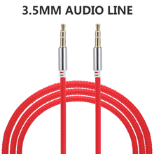 Aux Cable Male to Male Audio Cable 1M Car Audio 3 5mm Jack Plug Male To Male AUX Cable For Headphone MP3