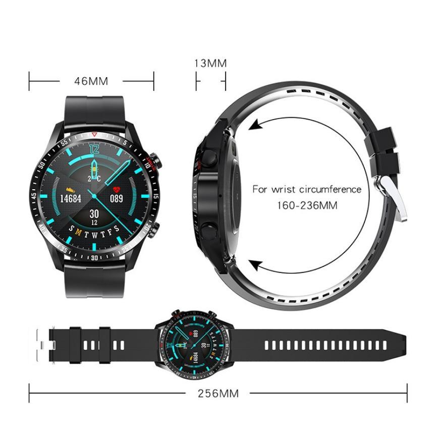 CAH20072902O_CK29 Round Thin 1.28 Screen Smart Watch Bluetooth Touch Waterproof IP67 Smart Band Call Temperature Multi-dials Smart Bracelet (22)