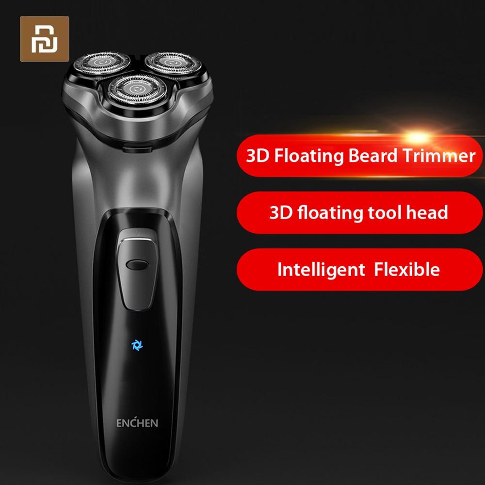 Newest Enchen Black Stone 3D Electric Shaver Smart Control Blocking Protection Razor Washable Type C Rechargeable MenSmart Remote Control   -