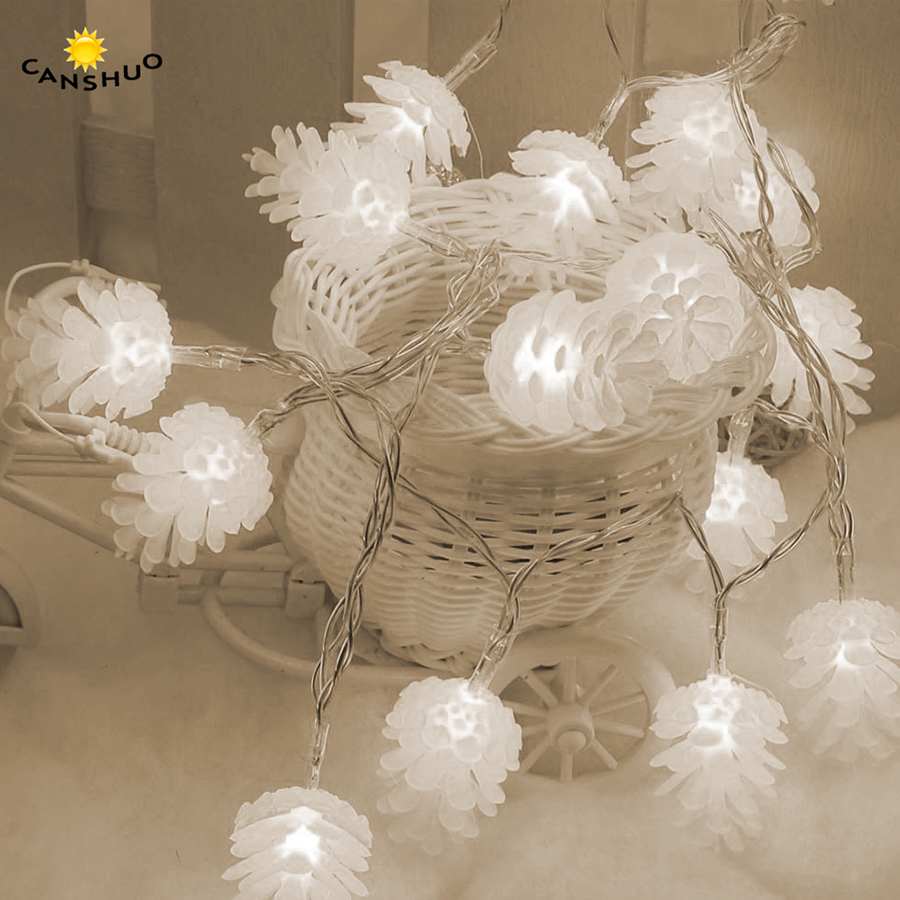 Pine Nuts Lights 20 LEDs Solar String Lamp Garden Fairy Outdoor Christmas Lights