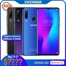 DOOGEE N20 Smartphone 4GB+64GB 6.3'' Waterdrop Screen 16MP+16MP+8MP+8MP Android 9.0 MTK6763V Octa Du