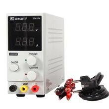 Nieuwe 30V 10A Led Display Verstelbare Switching Regulator Dc Voeding LW K3010D Laptop Reparatie Rework 110 V 220 V