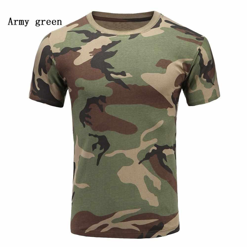 9 色メンズ Tシャツ半袖迷彩軍の屋外カジュアル Tシャツプリント Tシャツ品質の Tシャツトップス