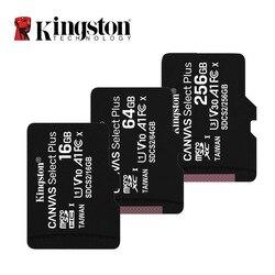 كينغستون مايكرو SD بطاقة الذاكرة 16GB 32GB 64GB 128GB 256GB فئة 10 C10 UHS-I بطاقة SD كينغستون الصغيرة TF SDHC SDXC للهواتف الذكية