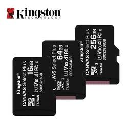 Kingston Micro SD карта памяти 16 ГБ 32 ГБ 64 Гб 128 ГБ 256 Гб класс 10 C10 UHS-I Mini Kingston SD карта TF SDHC SDXC для смартфона