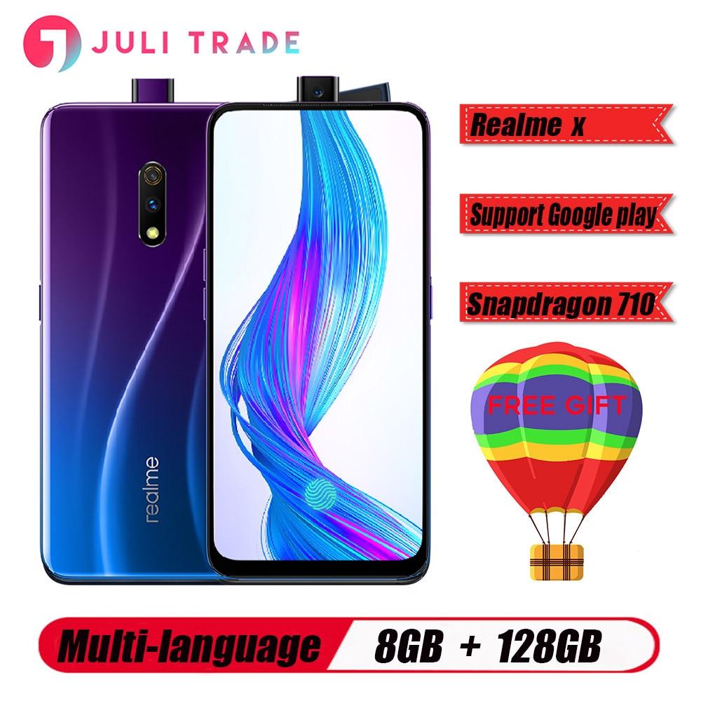 OPPO Realme X 4G LTE Mobilephone 8GB 128GB Snapdragon710 6.53 AMOLED 3765mAh 48MP Fingerprint VOOC3.0 Type-C Unlocked Smartphone