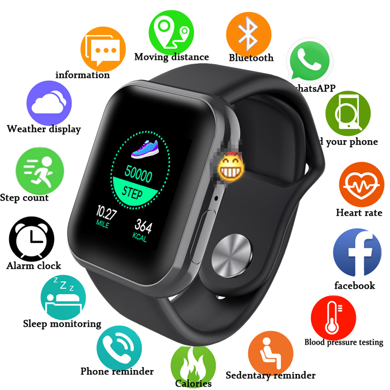 D28 Smart Watch Fitness Tracker Simple Smart Watch Heart Rate Monitor Blood Pressure IP67 Waterproof For Android IOS Smartband