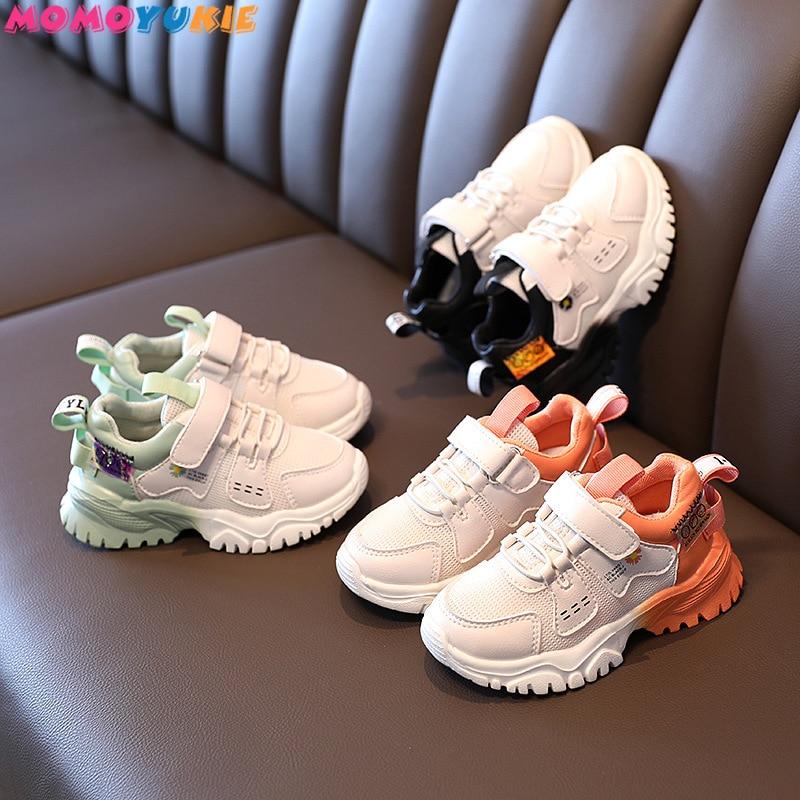 Кроссовки детские спортивные для девочек, повседневные, модная обувь для мальчиков и девочек