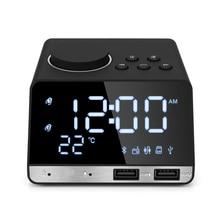K11 Bluetooth speaker alarm clock 4.2 Radio LED Digital Alarm Clock Display Home Decoration Snooze Table USB charging