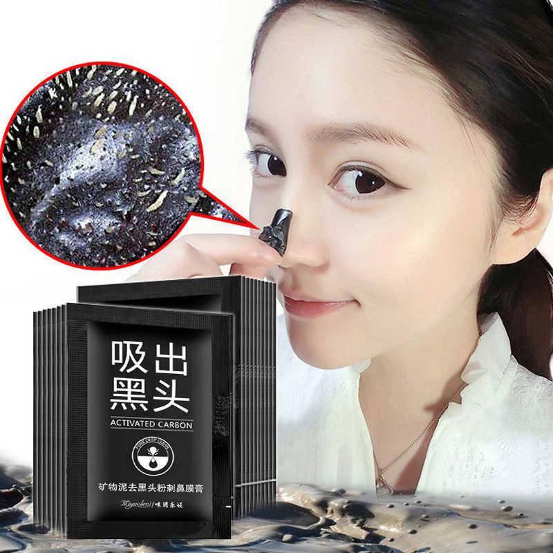 Черная маска отшелушивающая бамбуковая угольная Очищающая маска для удаления черных точек глубокое очищение от акне шрамовые пятна морщины уход за лицом