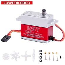 KST Servo Digital de engranaje de Metal para coche de control remoto, dispositivo de engranaje de Metal para vehículo de control remoto, Robot, brazo de barco, helicóptero, alto Torque, 18KG, 0,07sec, DS725MG