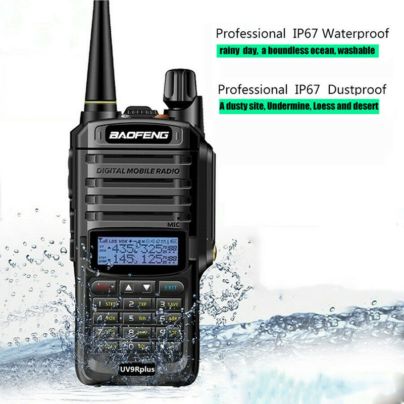 Baofeng UV-9R Plus 15W Walkie Talkie High Power Long Range 2 Way Radio Waterproof IP67