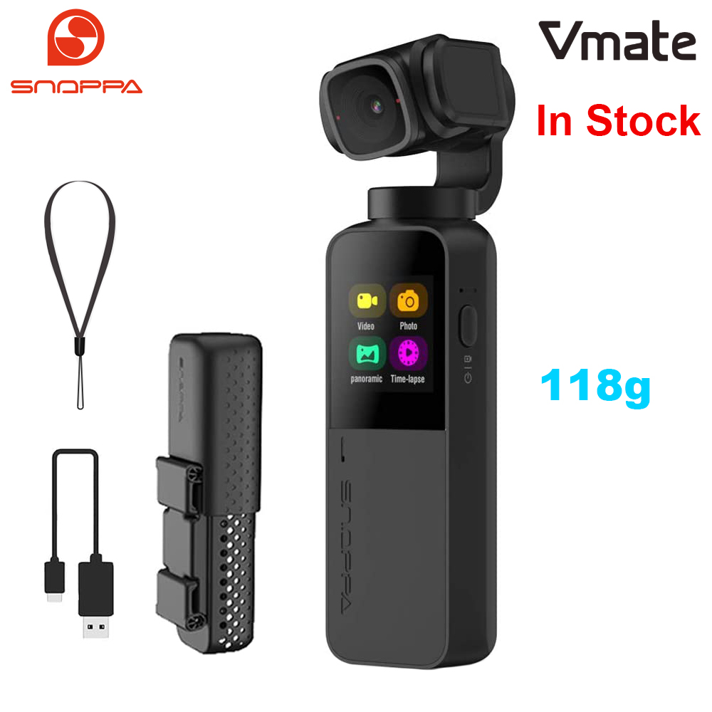 Snoppa Vmate 3-Axis Handheld Gimbal 4K Camera 200Mbps High Bitrate Video Record 118g Microphone WiFi 90° Rotating Lens VS Fimi