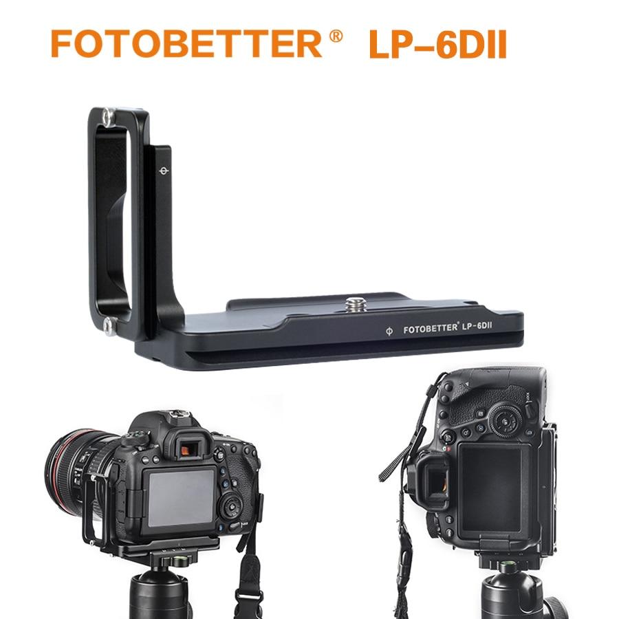 FOTOBETTER LP-6DII Dedicated L Bracket Quick Release Vertical Shoot QR L Plate Camera Holder for Canon 6D Mark II 6D2 Camera Body Arca-Swiss RRS Benro Sirui Compatible Replaces Sunwayfoto PCL6Dii
