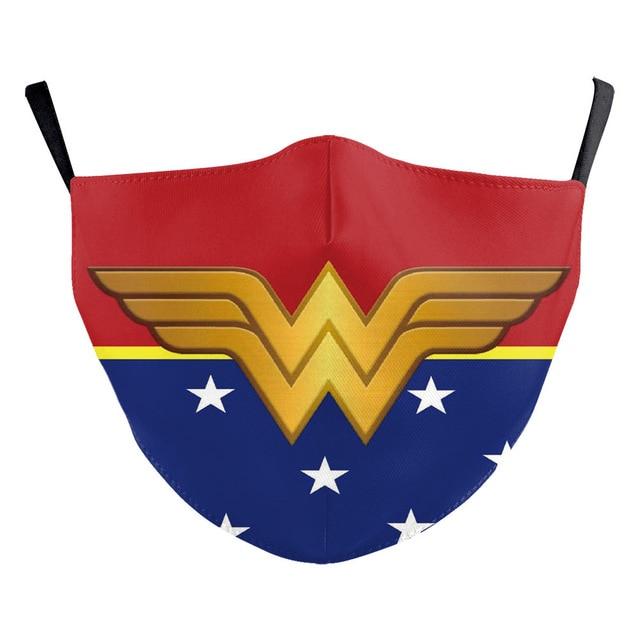 Superhero The Flash Thanos Iron Man Wonder Woman Cosplay Face Mask Dustproof Adult Kids Masks 5
