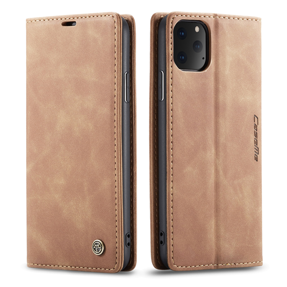 2019 <font><b>case</b></font> for <font><b>iPhone</b></font> 11 Pro & 11 Pro max <font><b>Case</b></font> & 11 Flip <font><b>Leather</b></font> Retro Cover luxury Metal <font><b>logo</b></font> Coque A2215 A2160 Cell Phone Shell image