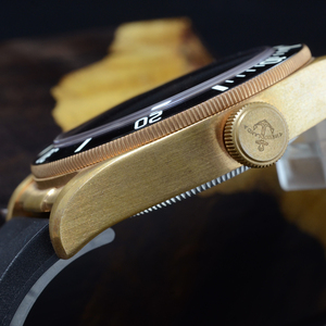 Image 4 - Cronos Hruodland Brons Duiken Mannen Horloge Mechanische Rubber Band Keramische Top Ring Saffier Kristal Gratis Lederen Band BGW9 Blauw