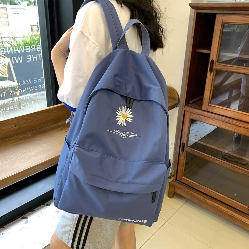 Bolsas de Escola Bolsas de Escola para Adolescentes Mochila Feminina Estilo Coreano Clássico Preto Preppy Moda para Adolescentes