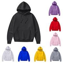 Tops con capucha de manga larga para mujer, Sudadera con capucha informal, lisa, para mantenerse caliente, Harajuku, otoño y primavera, Dropshipping