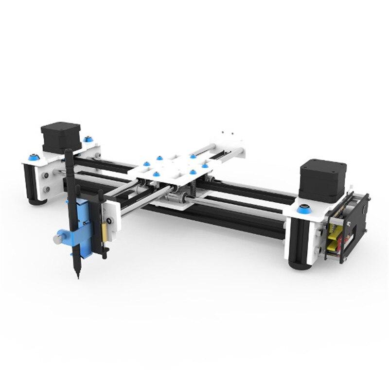 EleksMaker мини XY 2 оси CNC ручка плоттер DIY Лазерный чертежный принтер 28*20 см точность гравировки 0,1 мм