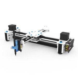 Image 1 - EleksMaker Mini XY 2 axes CNC Pen Plotter DIY Laser Drawing Machine Printer 28*20cm Engraving Accuracy 0.1mm
