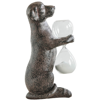 [MGT] American Retro Dog Hold Hourglass Timer Decoration Creative Home Decoration Office Decoration Birthday Gift