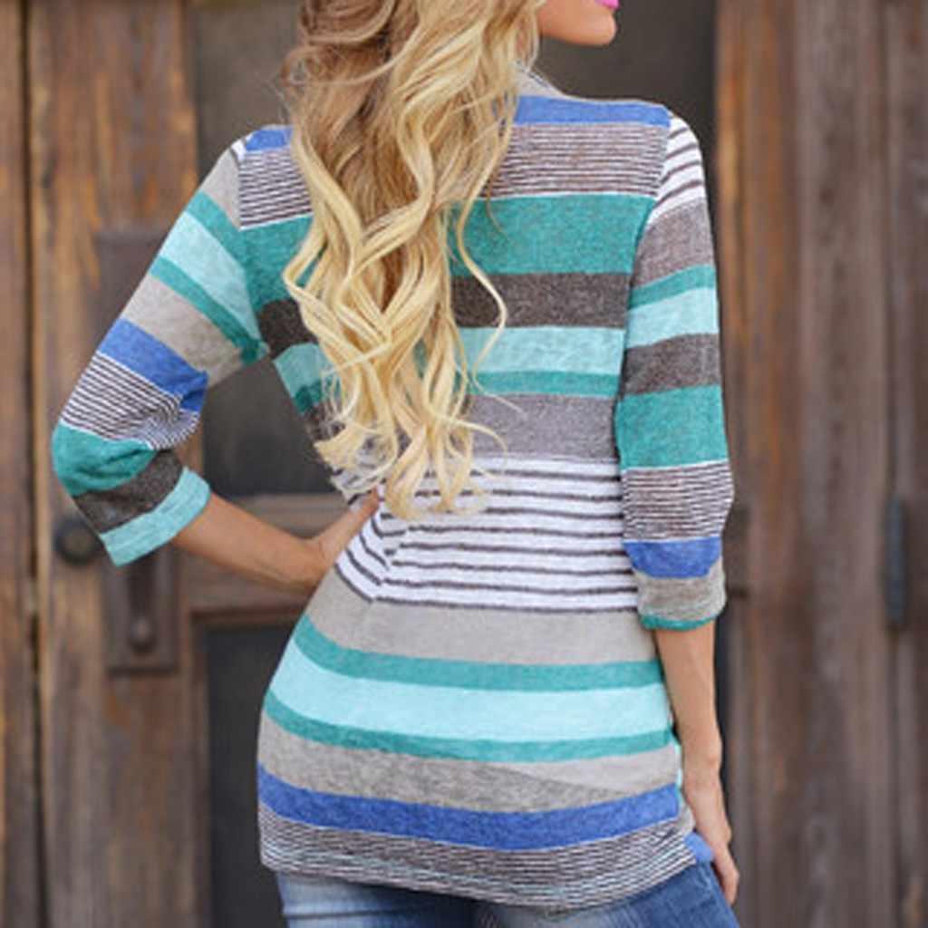 Mujer cárdigan suelto suéteres Casual estampado geométrico de manga larga de gran tamaño prendas de vestir exteriores mujeres Tops Sexy señora cárdigan chaquetas