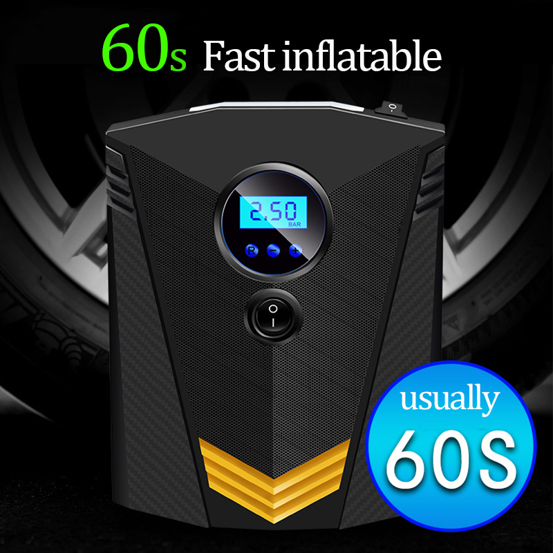 Portable Car Air Compressor DC 12V Digital Tire Inflator Air Pump 150 PSI Auto Air Pump for Car Motorcycle LED Light Tire Pump 2