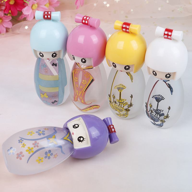 20ml Cute Japanese Puppets Portable Glass Refillable Perfume Bottle With Spray Empty Perfum Case For Traveler