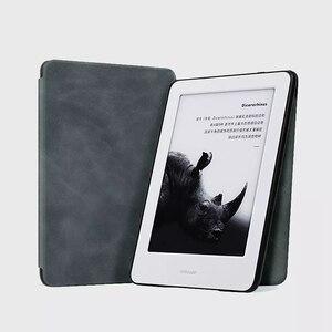 Image 5 - Youpin MoAn Schutzhülle Für Xiaomi MiReader e book Automatische Zurück Saug Leder Abdeckung Für Xiaomi ebook Schutzhülle