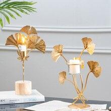 Nordico oggettistica per la casa figurine interni arte del Ferro Candeliere della decorazione ornamenti Moderna di Arte Ufficio Scrivania Decorazione soggiorno