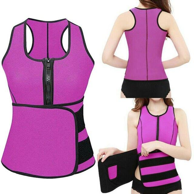 Lady Sauna Waist Trainer Vest Adjustable Slimming Sweat Belt Body Shaper Workout Trimmer Trainer Belt Fitness Shapewear 4