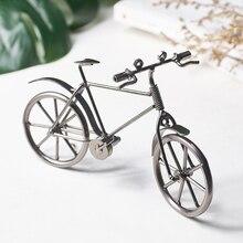 Ретро железная модель велосипеда, металлические украшения, креативное украшение для дома, декор для гостиной, офиса, рабочего стола, ностальгическая мебель