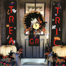 PATIMATE Halloween Decoration Trick or Treat Banner Door Window Sign Party Black With Red