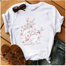 Mayos Floral Lady Graphic Fashion Floral Casual Cute Style 90s Retro Ladies T-shirt Printed Clothes Female T-shirt Viper T-shirt