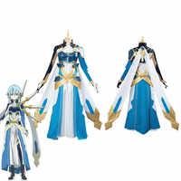 Disfraz de Sword Art en línea para mujer, Cosplay de Shino, uniforme de Halloween, vestido de fantasía hecho a medida