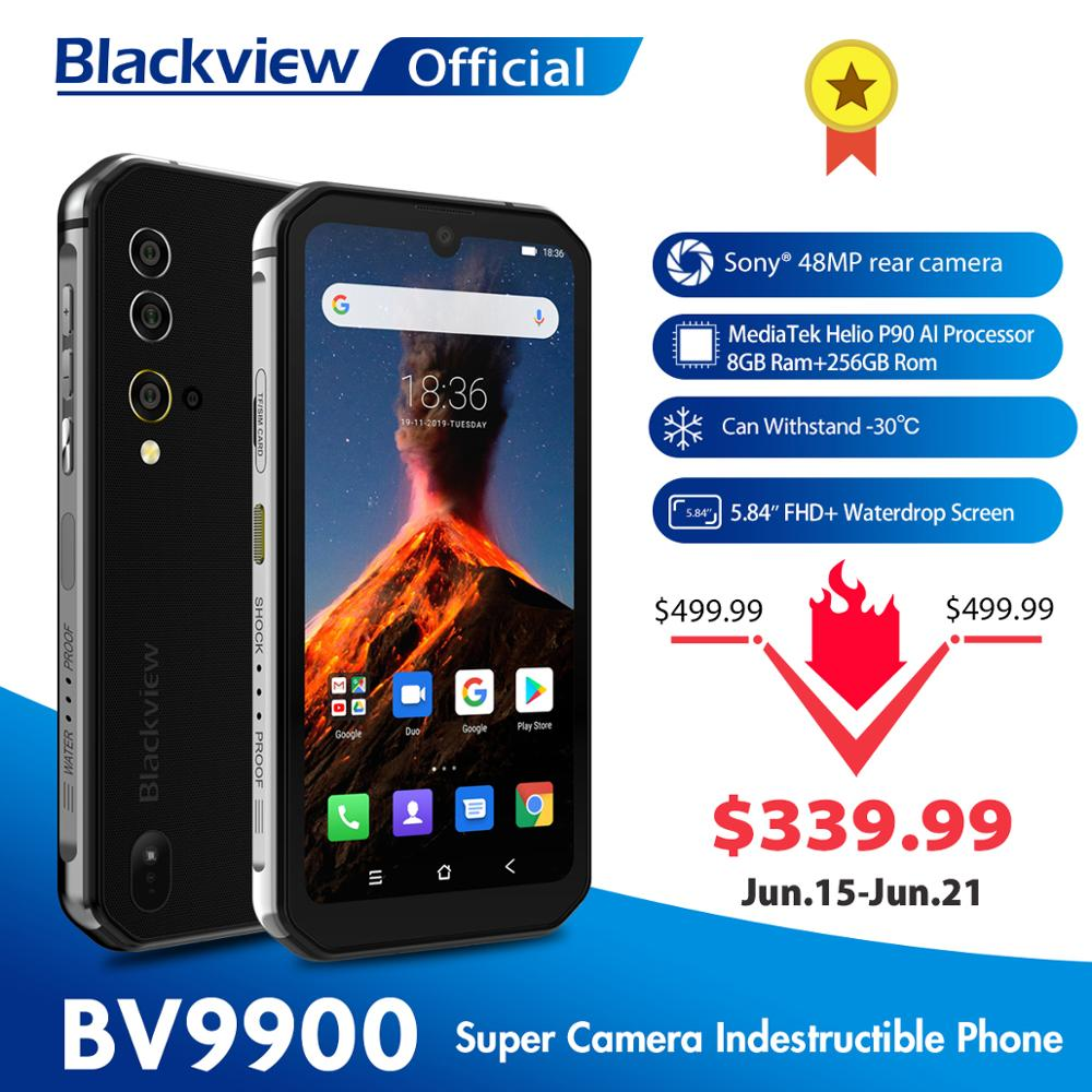 Blackview BV9900 Helio P90 Octa Core 8GB+256GB IP68 Rugged Mobile Phone Android 9.0 48MP Quad Rear Camera NFC Smartphone|Cellphones|   - AliExpress