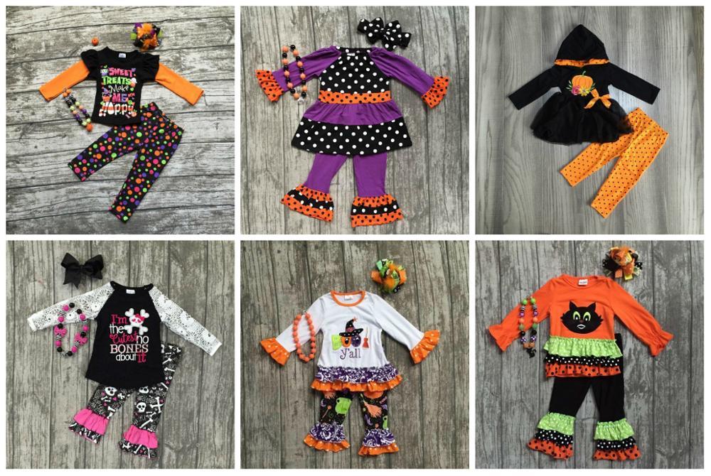 Girlymax special offer baby girls fall/winter Halloween children clothes cotton set match accessories 1