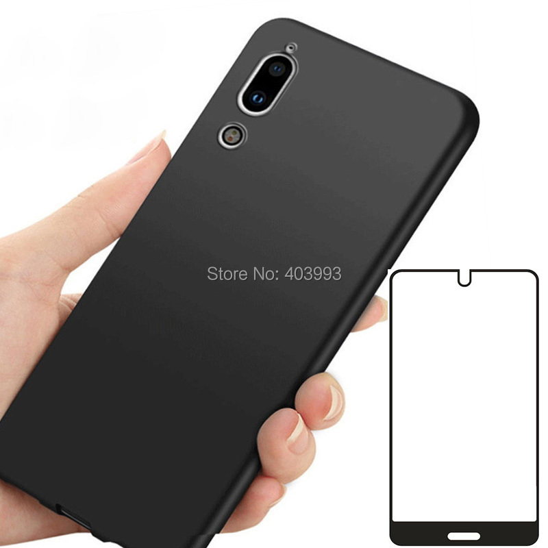 For SHARP AQUOS C10 S2 Case SHARP AQUOS C10 S2 Glass Luxury Soft TPU Phone Case With Tempered glass For SHARP AQUOS C10 S2