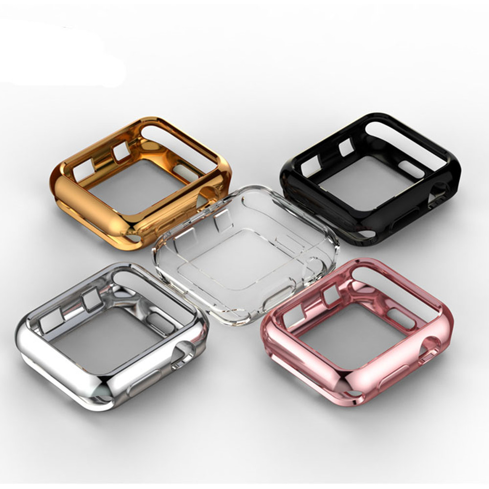 TPU bumper for <font><b>Apple</b></font> <font><b>Watch</b></font> 5 <font><b>case</b></font> 44mm 40mm iWatch band 42mm 38mm Screen Protector Cover <font><b>Apple</b></font> <font><b>watch</b></font> 4 3 <font><b>2</b></font> 44/40/38 Accessories image