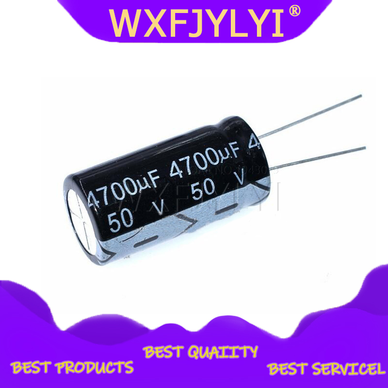 2PCS 50v4700uf 4700uf50v 18*35 <font><b>50v</b></font> <font><b>4700uf</b></font> 18x35 Electro Electrolytic capacitor image