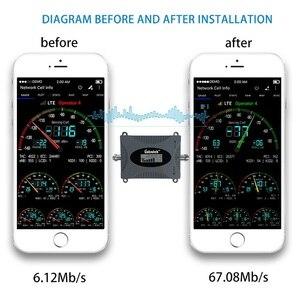 Image 4 - Lintratek 3G amplificateur cellulaire 2100MHz répéteur de Signal de téléphone portable amplificateur de Communication de données Internet 2100 WCDMA écran LCD dd