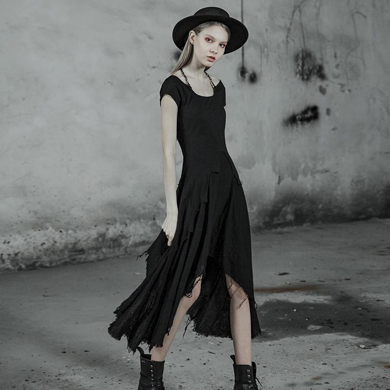 Punk Rave femmes Goth Lolita irrégulière Maxi robe PQ-512 asie taille S-L