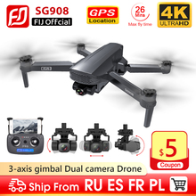 SG908 Drone 3 Trục Gimbal Camera 4K 5G Wifi GPS FPV Profesional Dron 50X Có Thể Gập Lại Quadcopter Khoảng Cách 1.2Km Vs SG906pro2