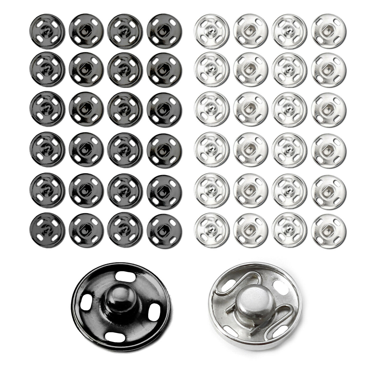 Invisible Snaps Fasteners Poppers Press Studs Sew On Fastener Metal Button