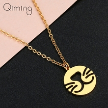 Stainless Steel Necklace For Women Cute Kitten Cat Gold And Silver Color Pendant Necklace Engagement Jewelry chereda stainless steel necklace for women man lover s girl gold and silver color pendant necklace engagement jewelry