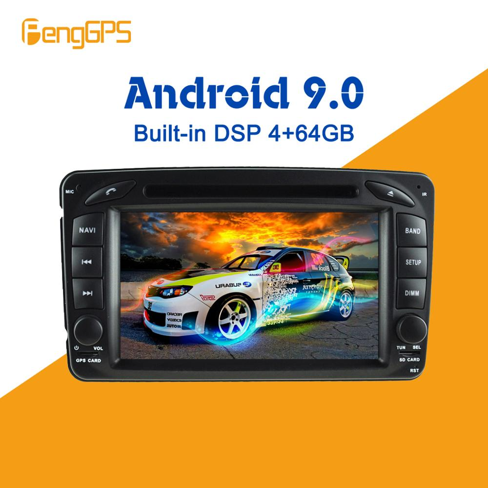 Android 9.0 4+64GB Built-in DSP <font><b>Car</b></font> multimedia DVD Player GPS <font><b>Radio</b></font> For Mercedes Benz W209 W203 W168 <font><b>ML</b></font> <font><b>W163</b></font> W463 GPS Navigation image